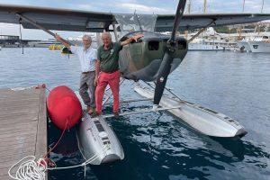 Enrico Guggiari e Cesare Baj nel Port Hercule - Monaco