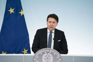 Italian Prime Minister Giuseppe Conte attends a press conference at the end of the Council of Ministers for the Coronavirus emergency at t?he Palazzo Chigi in Rome, Italy, 08 March 2020. ANSA/PALAZZO CHIGI/FILIPPO ATTILI HANDOUT HANDOUT EDITORIAL USE ONLY/NO SALES/NO ARCHIVES