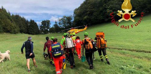 vigili-fuoco-soccorso-alpino-speleologico-erba-san-salvatore-scala-di-legno-1